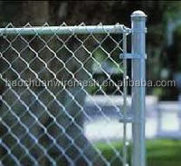 high quality 6foot pvc coated or hot-dip galvanized chain link fence (direct factory)