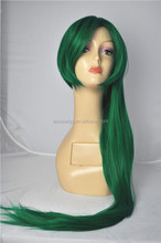 Most Popular Fashion Style Top Grade Long Green Synthetic hair wig