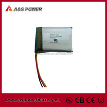 UL approved 3.7V rechargeable 603040 li-ion polymer battery 1500mAh for portable voice