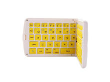 Folding silicone bluetooth keyboard for iPhone 6plus, Andriod system compatible bluetooth wireless Keyboard