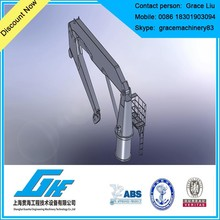 folding boom crane marine pedestal crane for sale
