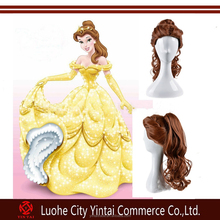 Beauty And The Beast Cartoon Princess Belle wig 24 inches Cosplay Wigs