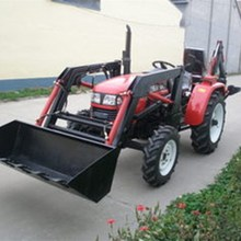 agricultural tractor 4x4 compact tractor with loader and backhoe