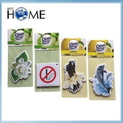Promotional Fruit Smell Paper Car Air Freshener for Hotel Room
