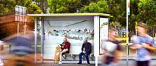 advertising bus shelter with light box aluminium bus shelter