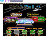New Arrival : WMS MEGA 5 In 1 Casino Game Pcb Gambling Game PCB For Arcade Game Machine