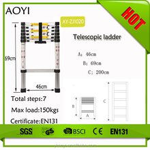 Easy to carry and extend bottom price aluminium fire escape rope ladder AY-ZJ1020