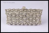 2014 hot production charming design diamond evening bag crystal skulls pattern clutch bags TFC1688