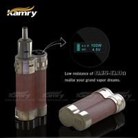 kamry 100 double coils vaporizer,fit with 2 pcs 18650 battery,ajustable wattage 7-20 w