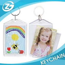 Kids Funny Snap-In Photo Picture Frame Plastic Keychain