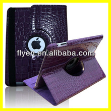 Purple Case For Apple iPad 2, 3 4 New 360 Degree Rotating PU Leather Cover Stand