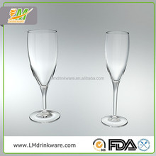 Best selling products made in china plastic goblet glassware champagne flutes wholesale