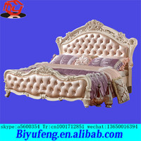 Possessed high box european-style double solid wooden 1.8 meters European romantic fashion leather marital bed