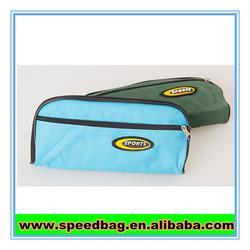 Sky blue nylon zipper pen bag pencil bag