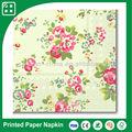 flor de impressão guardanapos de papel decorativos