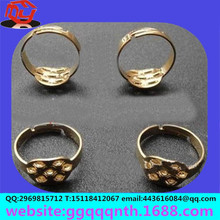 manufacturers wholesale new mass-produced diamond flower pattern brass gold rings
