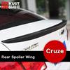 KUST Rear Spoiler For Cruze 2009 To 2014 Exterior Car Rear Spoiler For Chevrolet For cruze Accessories Modification Rear Spoiler