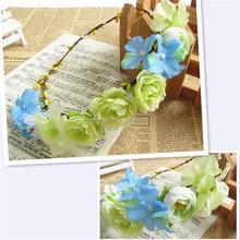 Durable OEM silk flower lei wreaths rose petals