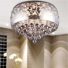 Modern smooth steel egg shape recessed crystal led ceiling lights