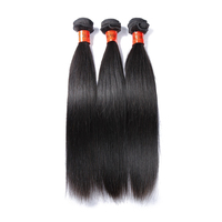 Factory price grade 8A single donor natural virgin Cambodian straight hair extensions