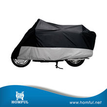 """All-Season Motorcycle Cover """"170T Silver Coated Polyester Motorcycle Cover """" Motorbike Cover Black Silver"""