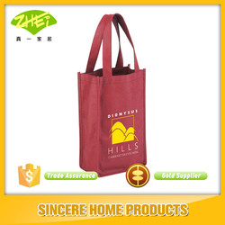 2 bottle wine non-woven tote bag