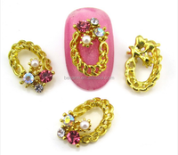2015 fake nail designs colorful flower beautiful fashion new 3d nail art decoration