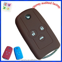 Promotional silicone car alarm remote control shell for Honda made in China