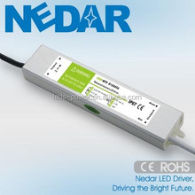 EMC TUV Approved 12v/24v 36w waterproof led power driver Constant Voltage 3a LED strip light power supply