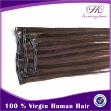 most popular retail items clip in human hair extensions wavy hair remy