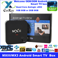 Quad Core MX3 Android TV Box Indian IPTV Arabic IPTV MXIII TV Box No Monthly Payment 1G DDR/8G ROM