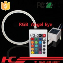 auto accessory 60mm 70mm 80mm 90mm 100mm 110mm 120mm 130mm 140mm car lamp waterproof COB SMD RGB angel eyes