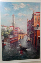 Hand painted Museum Quality Venice oil painting Italian tourist attraction oil painting