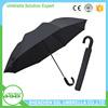 High quality 2 folding custom printed umbrella with hook umbrella handle