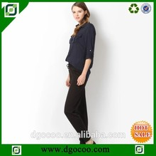 coreano señora blusa blusa de cuello de imagen del pantalón y camisa