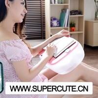 Multipurpose portable ABS&PVC Pink color rectangular shape inflatable wedge pillow