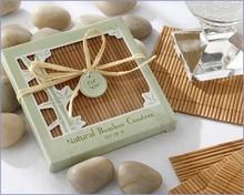 Natural Eco-Friendly Bamboo Coaster wedding table decoration Favors