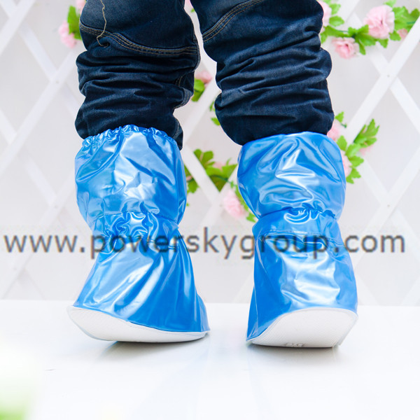 PY602 children waterproof pearl blue  adjustable rain boots.jpg