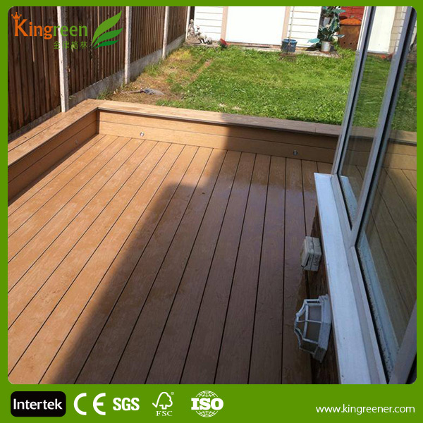 Recycled plastic lumber plastic wood wpc outdoor decking for Recycled decking material
