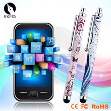 Rhinestone touch pen plastic ball pen with light