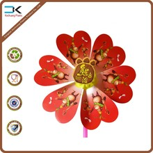 Customized various picture printed pp plastic toy pinwheel