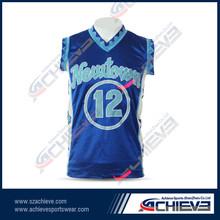 Custom sublimation printing mesh short sleeve basketball jersey