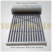 GOOD QUALITY 150L aluminium alloy Non pressure solar water heaters at Haining