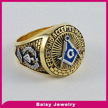 classic best selling masonic championship ring jewelry in stainless steel