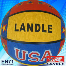 Good quality rubber basketball custom printed mini indoor basketball