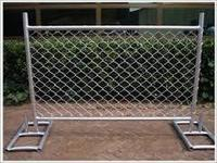 High Safety Temporary Chain Link Fence with Feet , Low Price And High Quality Used Chain Link Fence ( Factory Manufacturer )