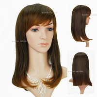 Beauties Factory Natural Style Synthetic Long Wave / Curly Victoria Blonde Brown Full Hair Wig 1924J