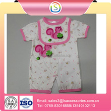 guangdong New design fashion low price 100%Cotton new born baby clothes blank baby romper