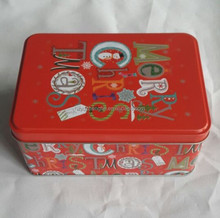 rectangular metal tin cans for gift packaging