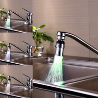 Light Color 360 degree Rotate automatic temperature control faucet